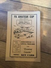 More details for fa amateur cup final 1962 replay @ middlesbrough crook town v hounslow
