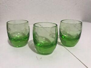 vintage green shot glass