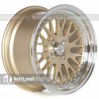 Circuit Performance CP21 16x8 4-100 +25 Gold Wheels Rims Classic Mesh Deep Lip