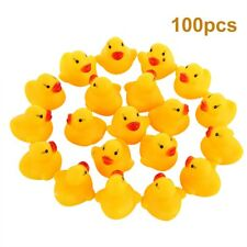 100pcs Mini Yellow Bathtime Rubber Duck Ducks Bath Toy Water Play Kids Toddlers