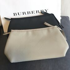 Burberry Beauty Cosmetic Bag Pouch VIP Gift New in Box Beige or Black NIB