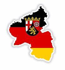Rhineland-Palatinate Map Flag Sticker Silhouette Bumper Helmet Laptop Tablet