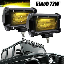 Pair Yellow LED Work Light Spot Beam OffRoad Tractor Boat fog Driving light