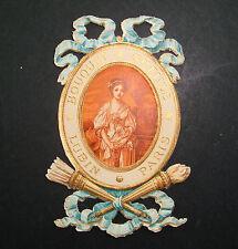 ETIQUETTE DE PARFUM ANCIENNE BOUQUET GREUZE LUBIN PARIS SAVON LOTION OLD LABEL