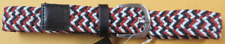 Childrens Toddler Multi Color Tweed Belt Red Blue White Size 6-7 Years