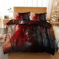 Great Red As Fire 3D Quilt Duvet Doona Cover Set Single Double Queen King Print