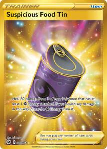 Suspicious Food Tin Gold Secret Rare Champion's Path 080/073 MINT Pokemon TCG