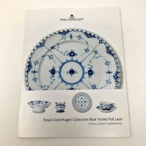 Royal Copenhagen Blue Fluted Full Lace Collection Brochure Price Guide