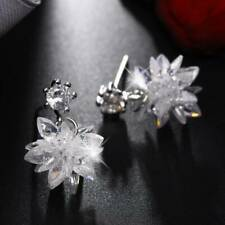 Earrings Snowflake Drop Earrings Jewelry b Fashion Snow Ice Flower Zircon Stud