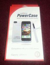 WHITE AUDIO SNAX, Rigid Plastic Apple Certified PowerCase iPhone 5/5s Battery