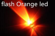 100x a0702 flash 3mm orange LEDs, automatisch blinkende  leds.