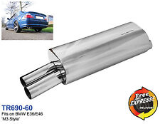 Exhaust performance s/steel muffler for BMW E36 E46 to give a M3 look, TR690-60