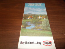 1968 Texaco Massachusetts/Connecticut/Rhode Island Vintage Road Map