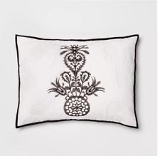Opalhouse Mallorca Embroidered Ornament KING Pillow Sham - Black/White