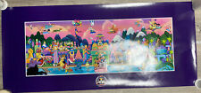Disney Disneyana Convention It'S A Small World Glow In The Dark Poster-Signed