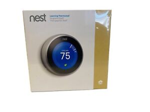 Nest Learning Smart Thermostat T3007ES Stainless Steel