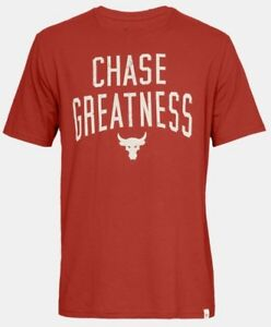 UNDER ARMOUR PROJECT ROCK UA CHASE GREATNESS TEE DWAYNE JOHNSON LOOSE T-SHIRT