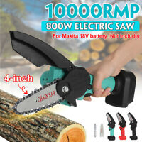 800W Cordless Electric Chain Saw Wood Cutter One-Hand Saw For Makita 18V Battery