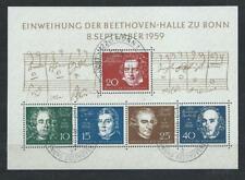 "BRD Block 2 ""Beethoven "" mit Ersttagsstempel vom 8.9.1959"