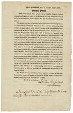 Solomon Van Vechten Van / General orders The Commander in Chief submits 1807