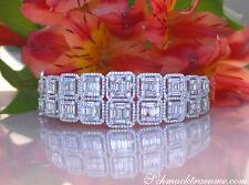 Hochkarätiger Brillanten Armreif m. Baguette Diamanten 5.64 ct TW VS WG750 25800