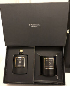 Bahoma London Perfumed Diffuser 100ml & Large Candle Vetiver & Cedarwood Black