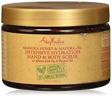 Shea Moisture Manuka Honey Mafura Oil Intensive Hydration Hand Body Scrub 12 oz