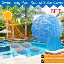 Round Solar Swimming Pool Cover Outdoor Bubble Blanket for Above Ground Pools AU