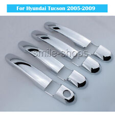 For Fit 2005-2009 Hyundai Tucson Chrome Silver Trim Door Hand Cover Accessorie