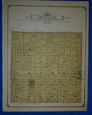 1914 Plat Map ~ GRANVILLE Twp. - PLATTE Co., NEBRASKA Land Genealogy Ancestry