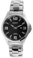 Akzent Herrenuhr Schwarz Analog Datum Metall Quarz Armbanduhr X2800061001