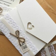 wedding stationery - Wedding Invitation - vintage theme - pocketfold SAMPLE ONLY