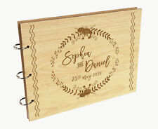 Darling Souvenir Personalized Engraved Laser Cut Wedding Guest Book-vAh