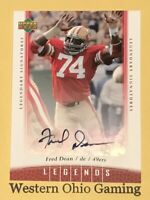 2006 Upper Deck Legends Fred Dean #94 Legendary Signatures Autographed Card