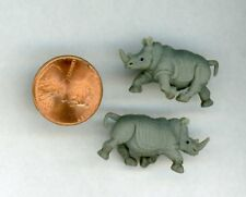 Miniature Dollhouse DHDH or Childs Room Animal (2) Rhinoceros