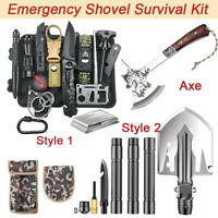 Camping Axe Hatchet Shovel Survival Gear Kit Tactical Hunting EDC Emergency Tool