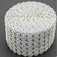 Silver Diamond Rhinestone Crystal Sparkle Ribbon Wedding Birthday Party Decors