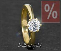 Diamant Brillant 585 Gold Ring, Solitär 1,04ct Brilliant, Top Wesselton; Damen