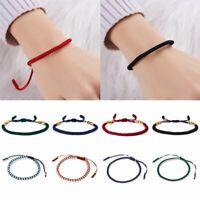 Colorful Handmade Braided Friendship Rope Women Adjustable Chain Bracelet Bangle