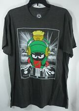 Men Looney Tunes Marvin the Martian Tee Shirt Size Large Gray Cotton Polyester