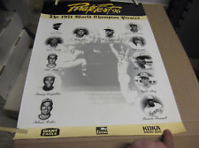 "1996 PIRATEFEST POSTER '71 WORLD CHAMPS W/ BILL MAZEROSKI 18"" X 24"""
