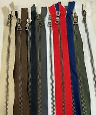 Riri Zip, M8 , 100cm, Open Ended, ANTIQUE BRASS TEETH, Choice Of 9 Tape Colours