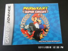 Mario Kart Super Circuit (Gameboy Advance) GBA Instruction Manual Only.. NO GAME