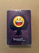 YAHOO! MESSENGER PLAYING CARDS HIDDEN EMOTICONS 2007 NEW SEALED DECK VERY RARE