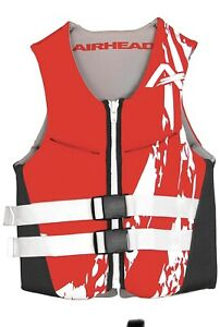 Airhead Swoosh Neolite Kwik-Dry Flex Life Preserver Vest Red