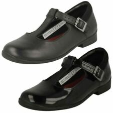 Details about SALE GIRLS CLARKS INFANTS BLACK PATENT RIPTAPE BACK TO SCHOOL SHOES DANCE TUNE
