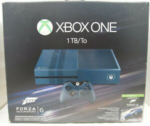 Microsoft Xbox One Blue 1TB Forza 6 Limited Edition Console BOX ONLY
