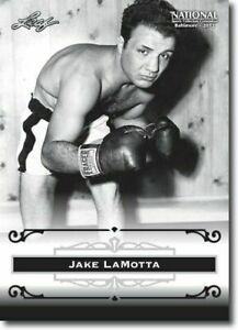 "JAKE LAMOTTA 2012 LEAF ""EXCLUSIVE"" COLLECTORS HALL OF FAME PROMO CARD! LEGEND!"