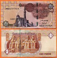 EGYPT 2017 UNC 1 Pound Banknote Paper Money Bill P- 70
