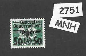 MNH stamp  Sc N51  1940 Overprint Third Reich Germany General Government Poland